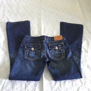 True Religion Franky sz 25 flirty fun pocket jeans